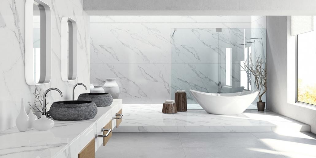Compac Design-Badezimmer Waschtische, Badewanne und Dusche